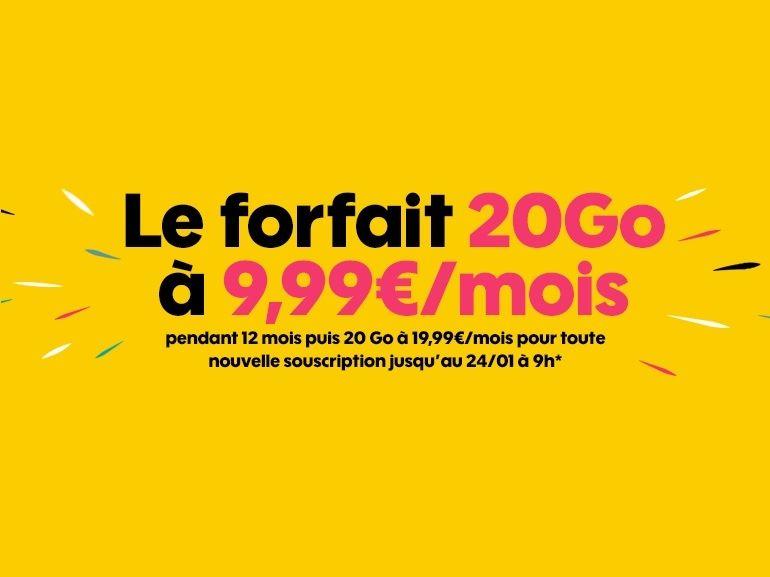 Sosh : le forfait mobile 20 Go est à 9,99 euros / mois