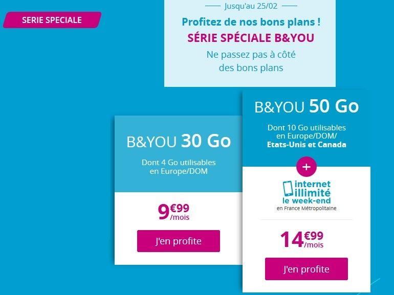 Bouygues Telecom : dernier jour sur le forfait 50 Go à 14,99€ avec Internet illimité le week-end