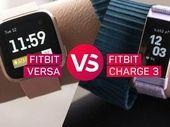 Fitbit Charge 3 vs Fitbit Versa : le match des tracker d'activité