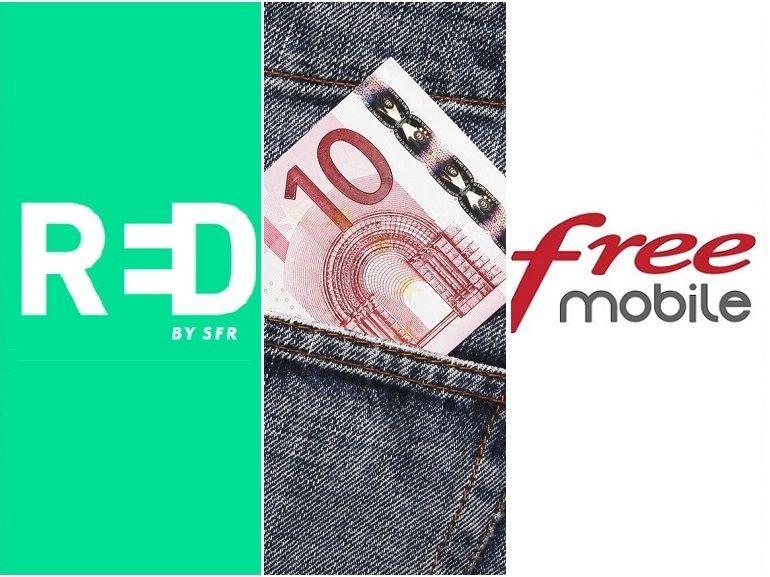 RED by SFR vs Free Mobile : qui a le meilleur forfait mobile à 10€ actuellement ?