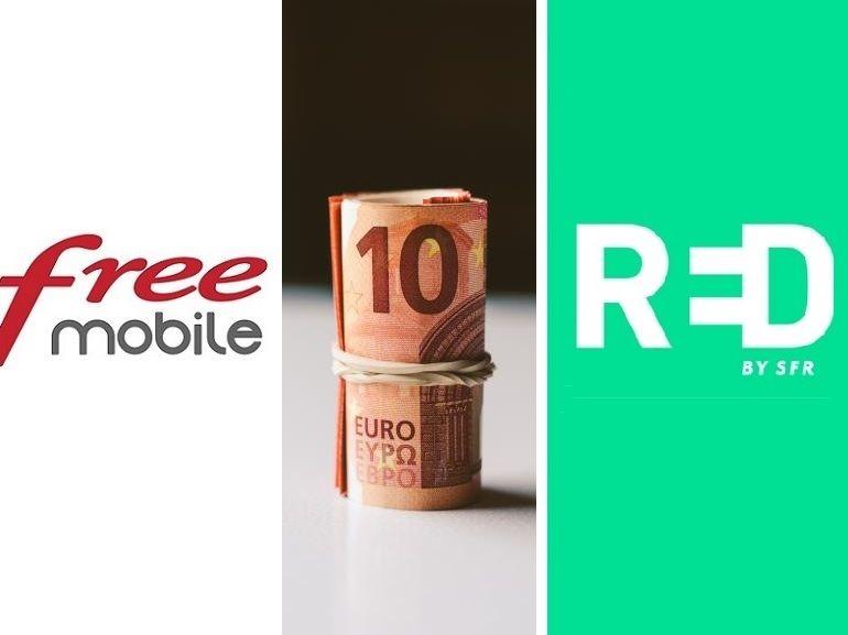Forfait mobile à 10€ : RED by SFR 40 Go vs Free Mobile 50 Go, lequel choisir avant ce soir ?