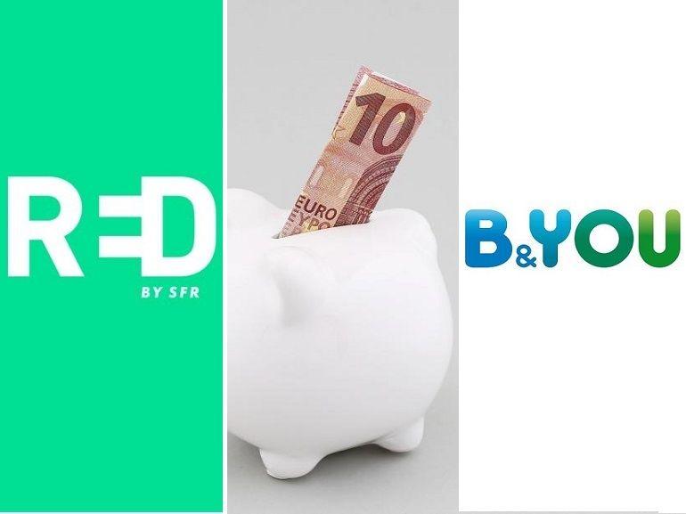 RED by SFR 40 Go ou B&You 30 Go : quel forfait mobile à 10€ choisir actuellement ?