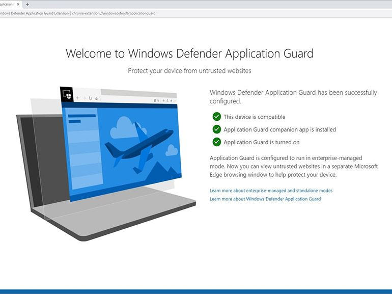 "Windows 10 : des extensions ""Windows Defender Application Guard"" pour Chrome et Firefox"