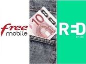 Forfait mobile à 10€ : RED by SFR ou Free Mobile, lequel est le meilleur actuellement ?