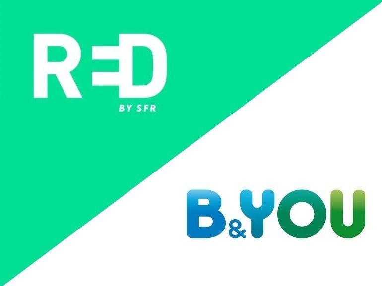 Quel forfait mobile à 10 euros choisir avant ce soir : RED by SFR ou B&You ?