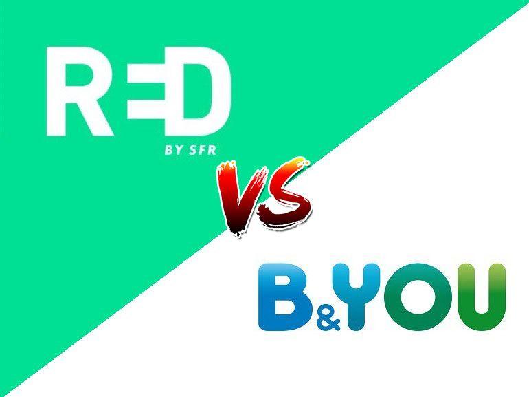 Forfait mobile à 10 euros : RED by SFR ou B&You, lequel choisir actuellement ?