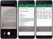 Excel pour Android transforme les photos de données en feuille de calcul