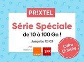 Forfait mobile Prixtel : Série Spéciale jusqu'à 100 Go et les appels illimités à partir de 6,99 euros/mois