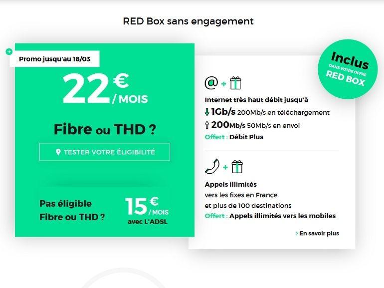 Box Internet / fibre : le bon plan RED by SFR à 22€ pour 1 Gb/s prendrait fin ce soir
