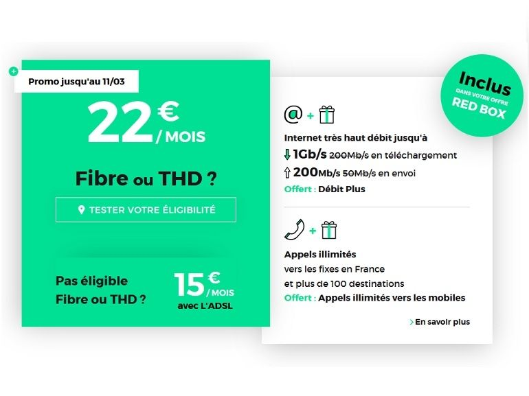 La box Internet fibre RED by SFR 1 Gb/s à 22€ prendra fin ce lundi