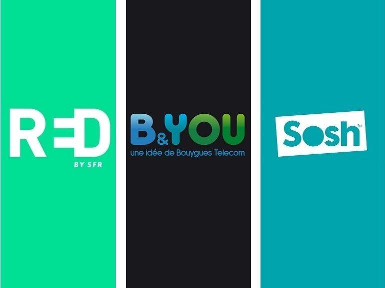 Forfait mobile à 10€ : RED by SFR, Sosh ou B&You, lequel choisir avant lundi ?
