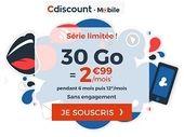 Pour les French Days, Cdiscount lâche un forfait mobile 30 Go à 2,99€ (pendant 6 mois...)