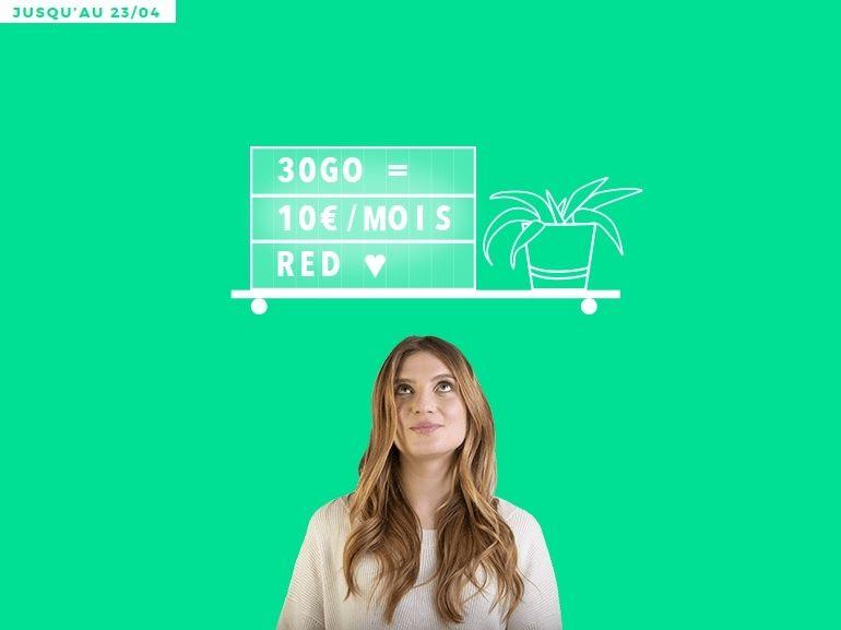 Forfait mobile : le bon plan RED by SFR 30 Go à 10 euros est de retour