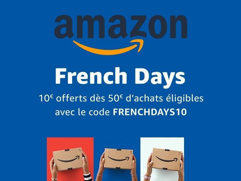Pour les French Days, Amazon offre dès maintenant 10€ de remise à partir de 50€ d'achats