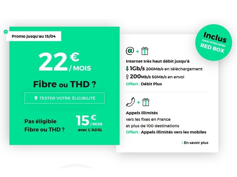 Box Internet en fibre : le bon plan RED by SFR 1 Gb/s à 22 euros est de retour