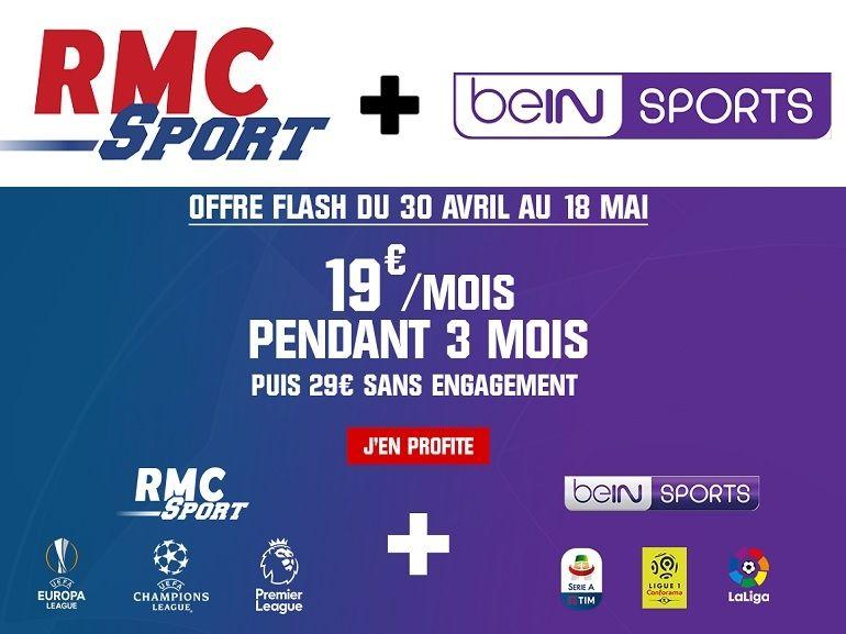 RMC Sport + beIN Sports à 19€/mois, juste à temps pour les demi-finales de la Ligue des champions
