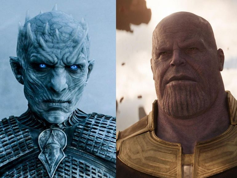 Thanos vs. le Roi de la Nuit de Game of Thrones : c'est qui le plus fort ?