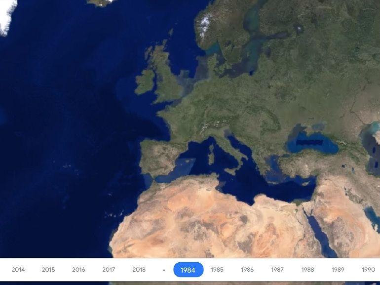 Google Earth Timelapse arrive sur smartphones et vous montre l'évolution de la planète depuis 1984