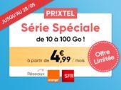 Forfait mobile Prixtel : ne ratez pas la Série Spéciale jusqu'à 100Go dès 4€99/mois