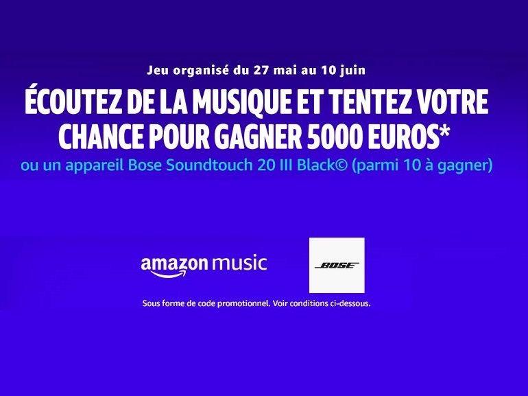 Bon plan : tentez de gagner 5000 euros en écoutant une playlist Amazon Music