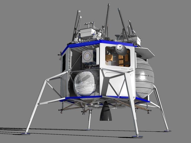 Jeff Bezos dévoile son atterrisseur Blue Moon pour retourner sur la Lune et la coloniser