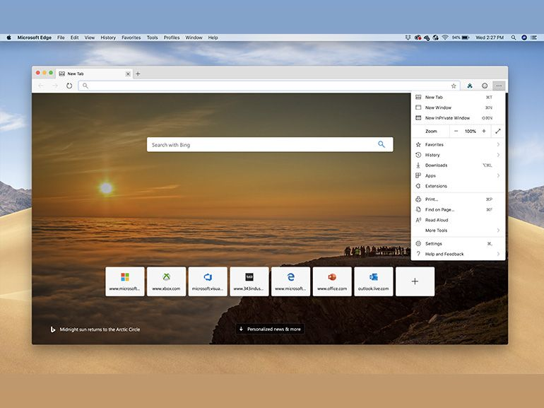 Edge Chromium : une première version à télécharger pour MacOS