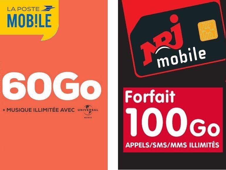 Quel est le meilleur forfait mobile à 10€ actuellement, NRJ Mobile ou La Poste Mobile ?