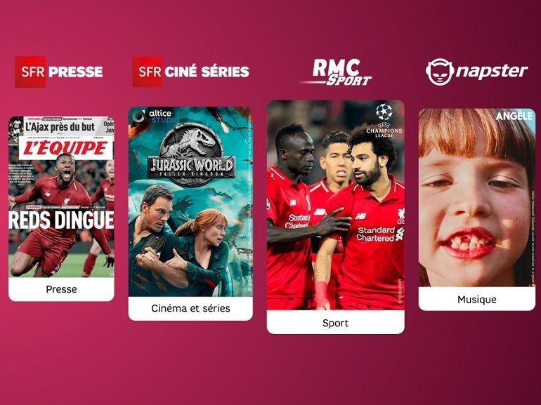 Bon plan : les options SFR (RMC Sport, Napster) passent à 1€/mois