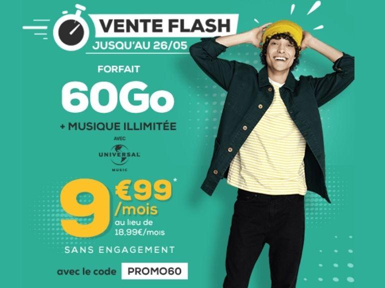 """La Poste Mobile : le forfait 60 Go est à 9,99 euros, """"à vie"""""""