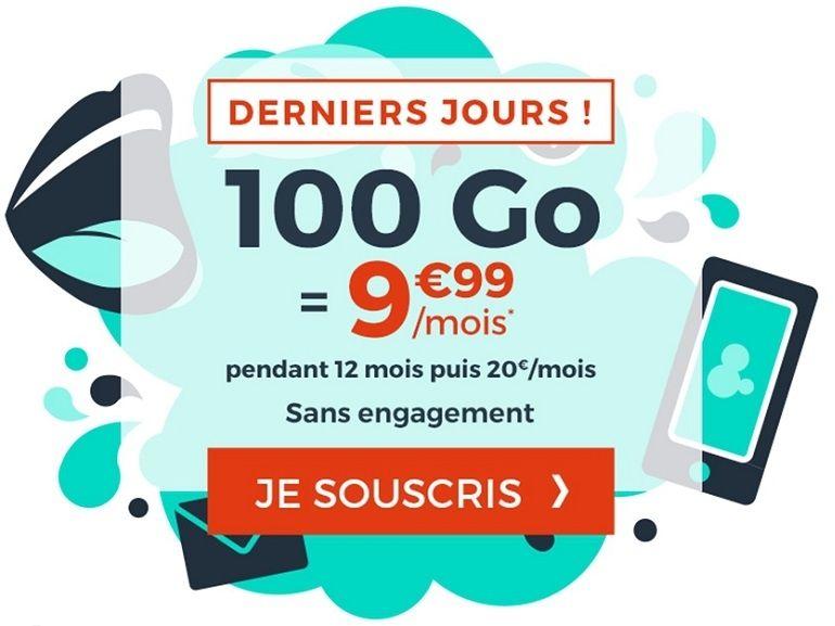 Le forfait mobile 100 Go à 10€ de Cdiscount est prolongé de quelques jours