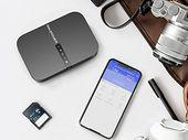 Test RAVPower Filehub : un NAS de voyage et routeur Wifi avec sauvegarde photo et batterie de secours