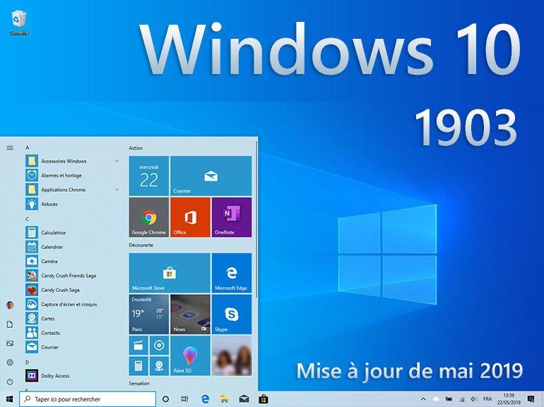 Windows 10 1903 : les nouveautés en images de la mise à jour de mai 2019