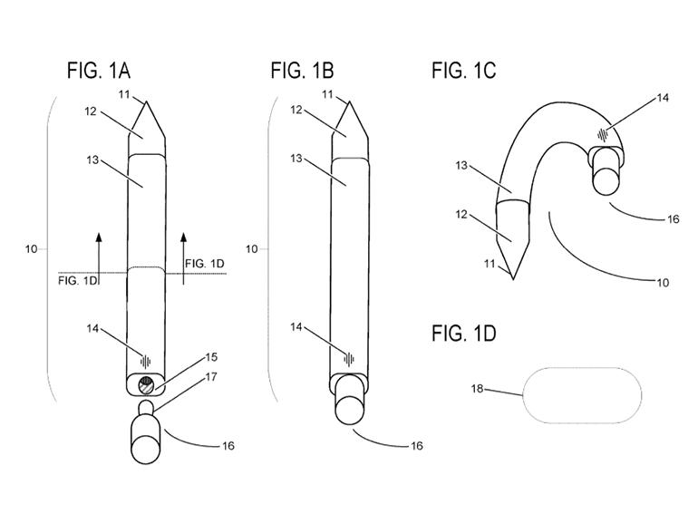 Surface Pen : un brevet pour transformer le stylet en oreillette audio
