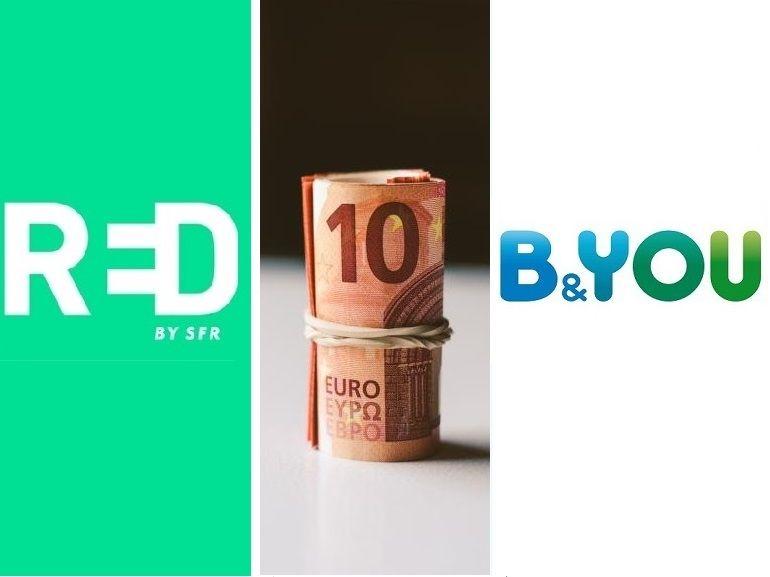 B&You ou RED by SFR, quel forfait à 10€ choisir actuellement ?