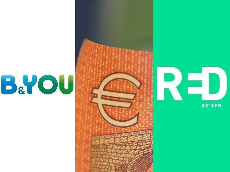 Meilleur forfait mobile à 10 euros : RED by SFR ou B&You, lequel choisir actuellement ?