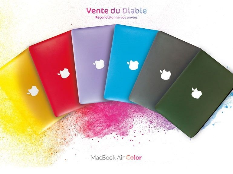 """Vente du Diable propose en exclusivité le MacBook Air """"Color"""" à partir de 599€"""
