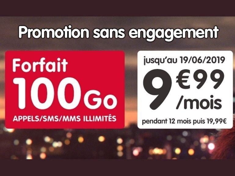 Le forfait NRJ Mobile 100 Go à 9,99€ prendra fin ce mercredi