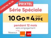 Forfait mobile Prixtel : la Série Spéciale 100 Go est disponible à partir de 4,99 euros par mois