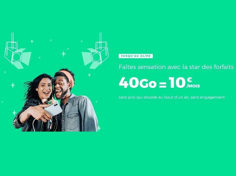 Forfait mobile : RED by SFR prolonge (encore) sa promo sur le 40 Go à 10€