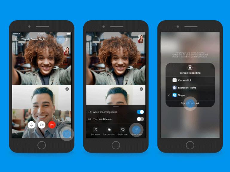 Skype iOS et Android : partage d'écran pour tous et une interface plus clean