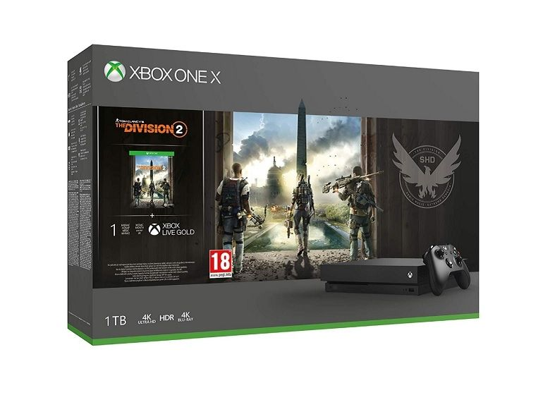 Bon plan : Xbox One X, 1 To + Tom Clancy's the Division 2 + Xbox Live Gold 1 mois à 349,99€