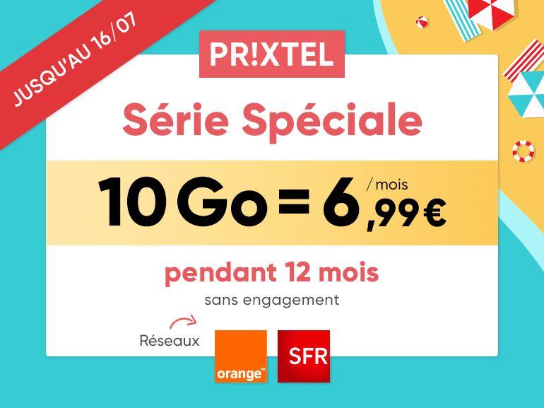 Forfait mobile Prixtel : jusqu'à 100 Go à partir de 6,99 euros/mois sur Orange et SFR