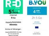 RED by SFR ou B&You : quel forfait à 5 euros choisir avant demain ?