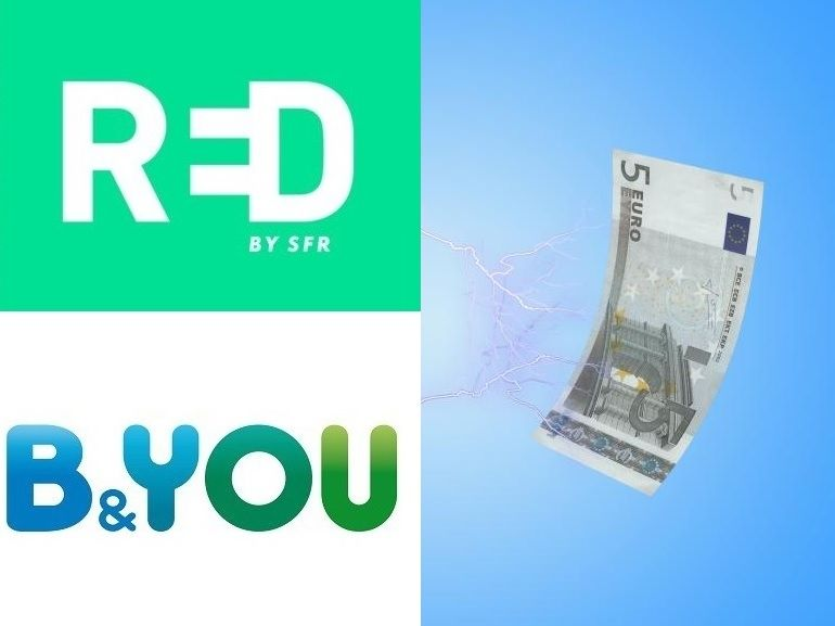 Quel forfait mobile 5 Go à 5 € choisir : RED by SFR ou B&You ?