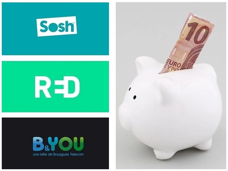 Forfait mobile à 10 euros : B&You, RED by SFR ou Sosh, lequel est le meilleur actuellement ?