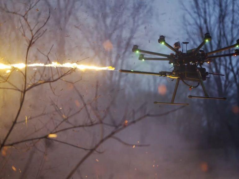 Ce drone lance-flammes sera un compagnon idéal pour allumer votre barbecue