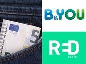 RED by SFR prolonge son forfait 5 Go à 5€, B&You aussi : lequel est le meilleur ?