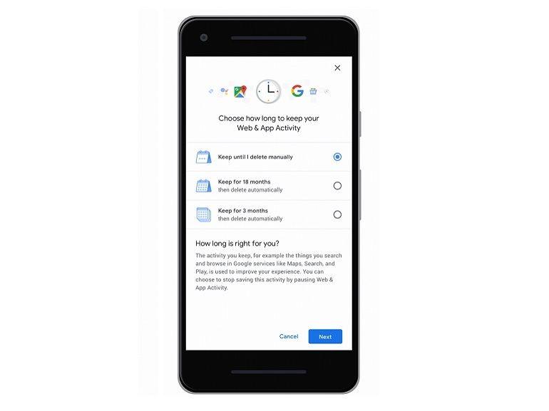 Google : la suppression automatique des données de localisation arrive