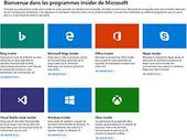 Microsoft crée une page dédiée pour centraliser tous ses programmes de test Insider