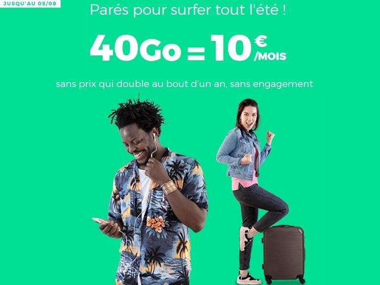 RED by SFR : le forfait 40 Go à 10€ est toujours en ligne, le forfait à 5€ aussi [MAJ]